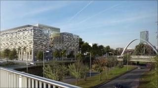 An artist's impression of the Birley Fields campus