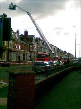 Fire crews at the property on Palatine Road in Blackpool