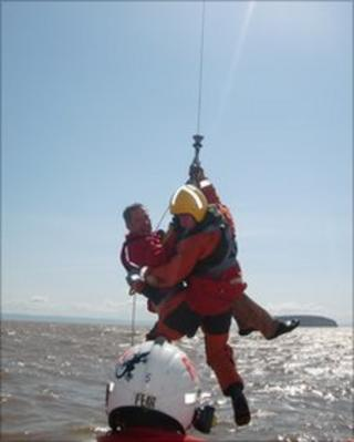 Man is rescued in the Bristol Channel