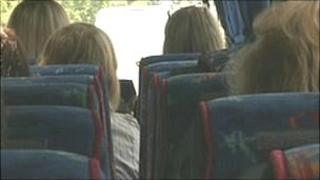 Parents on a bus from Leeds to lobby Parliament
