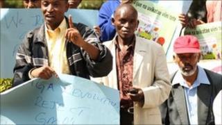 Anti-GM maize protesters in Nairobi, Kenya