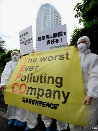 Protest at Tepco