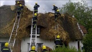 Henham cottage fire