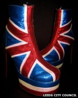 Union Jack boots worn by Geri Halliwell