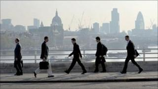 Commuters in London