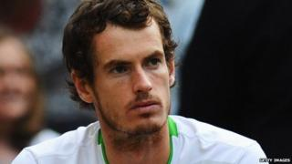 Andy Murray after losing his Wimbledon 2011 semi-final match.