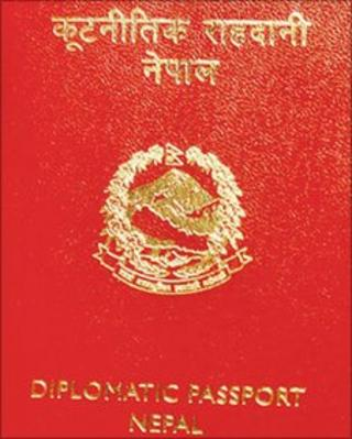 Nepalese diplomatic passport