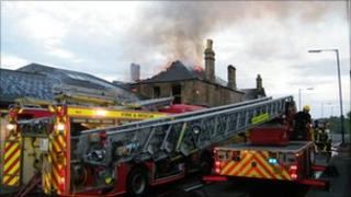 Fire at former pub