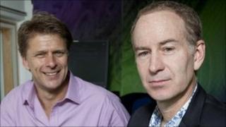 Andrew Castle and John McEnroe
