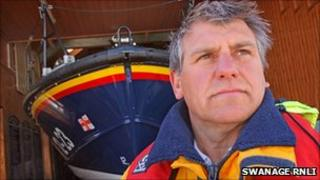 Martin Steeden, coxswain of Swanage RNLI station