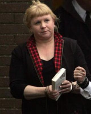 Loraine Upritchard appearing in court in 2007