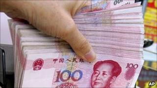 Chinese yuan notes