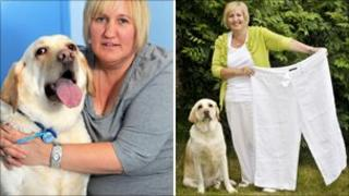 Lucky the Labrador and owner Alyson King
