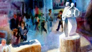 Janell Nishida's Statue on the Square