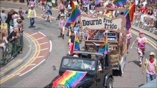 Bourne Free parade in Bournemouth, 2010