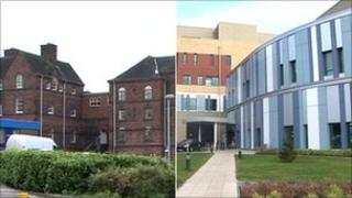 University Hospital of North Staffordshire: old and new