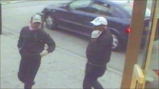 CCTV still of Tesco raid