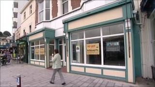 Empty shop in Devon
