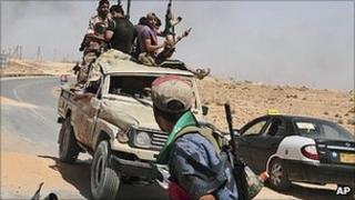 Libyan rebels south-west of Tripoli. 6 July 2011