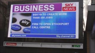 Sky News advertising billboard