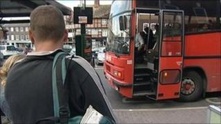 School bus in Wantage