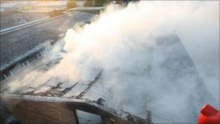 Lancing factory fire