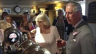 Duke and Duchess of Cornwall in Devon