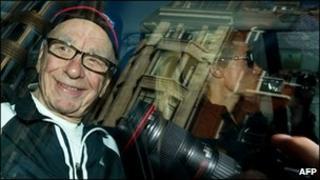 Rupert Murdoch leaves his London home