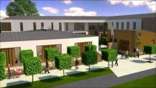 Artist's impression of new Lochfield Road medical centre in Dumfries