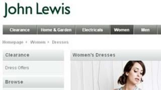 John Lewis' website
