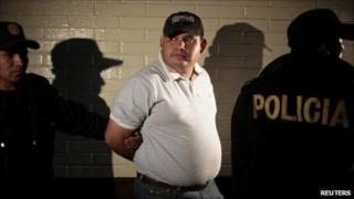 Guatemalan police hold suspect Elgin Vargas Hernandez over the murder of Argentine singer Facundo Cabral, 12 July 2011