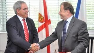 Senator Freddie Cohen and His Excellency Michael Zantovsky, Ambassador of the Czech Republic to the UK