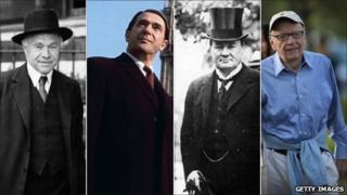 From left: Lord Beaverbrook, Robert Maxwell, Lord Northcliffe and Rupert Murdoch