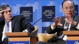 Gordon Brown and Rupert Murdoch in 2007