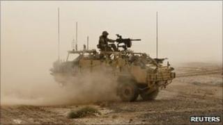 Isaf tank in Lashkar Gar, Helmand, Afghanistan (file image)