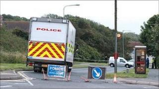 Police at scene (Pic: Eddie Mitchell)