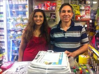 Newsagents Anjali and Prabodh Karpal