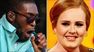Tinie Tempah and Adele