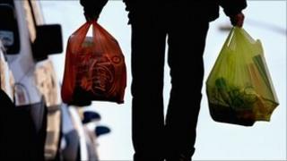 Man carrying shopping bags