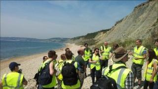 Research engineers at Charmouth