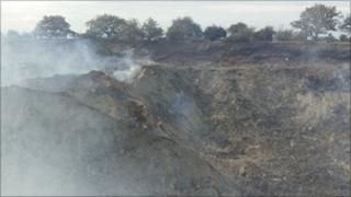 The wood chipping fire in Orsett
