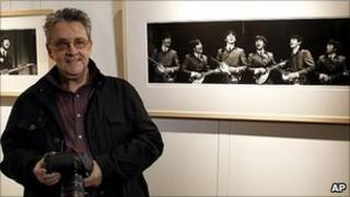 Mike Mitchell with his Beatles photographs