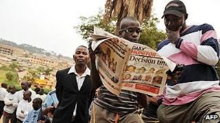 Ugandan newspaper readers