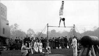 British athletes practising in Hyde Park, London 1948