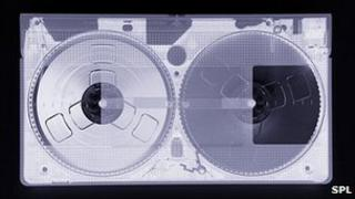 X-ray of cassette recorder