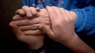 Carer's hands (generic)