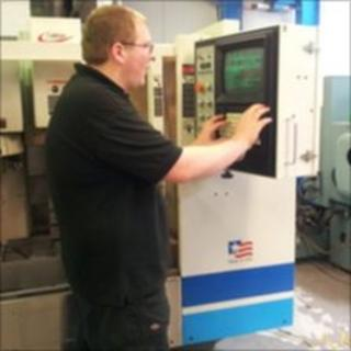 Workshop supervisor operating a VMC vertical machining centre at FirScot (picture courtesy of FirScot)