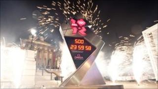 Trafalgar Square countdown clock