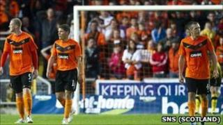 Dundee United crashed out of Europe on away goals