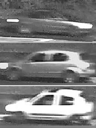 CCTV of three cars the police are keen to trace